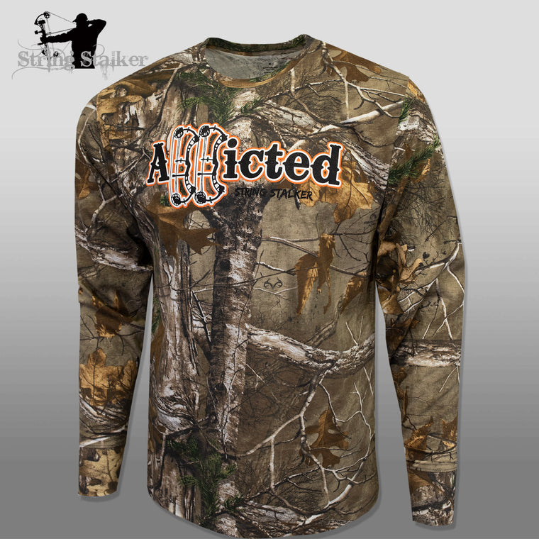 String Stalker Realtree Camo Addicted Longsleeve T-Shirt