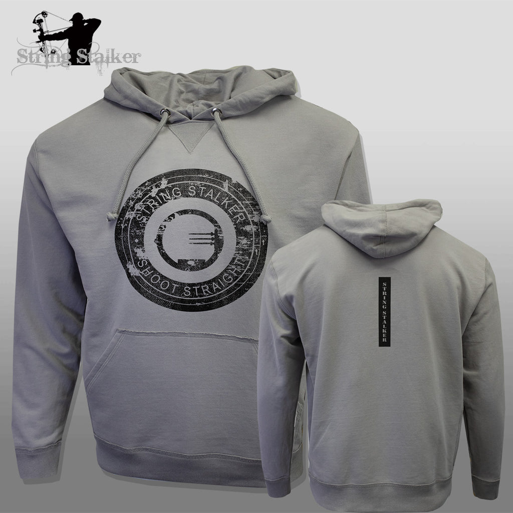 String Stalker Shoot Straight Bow Hunter Lightweight Hoodie