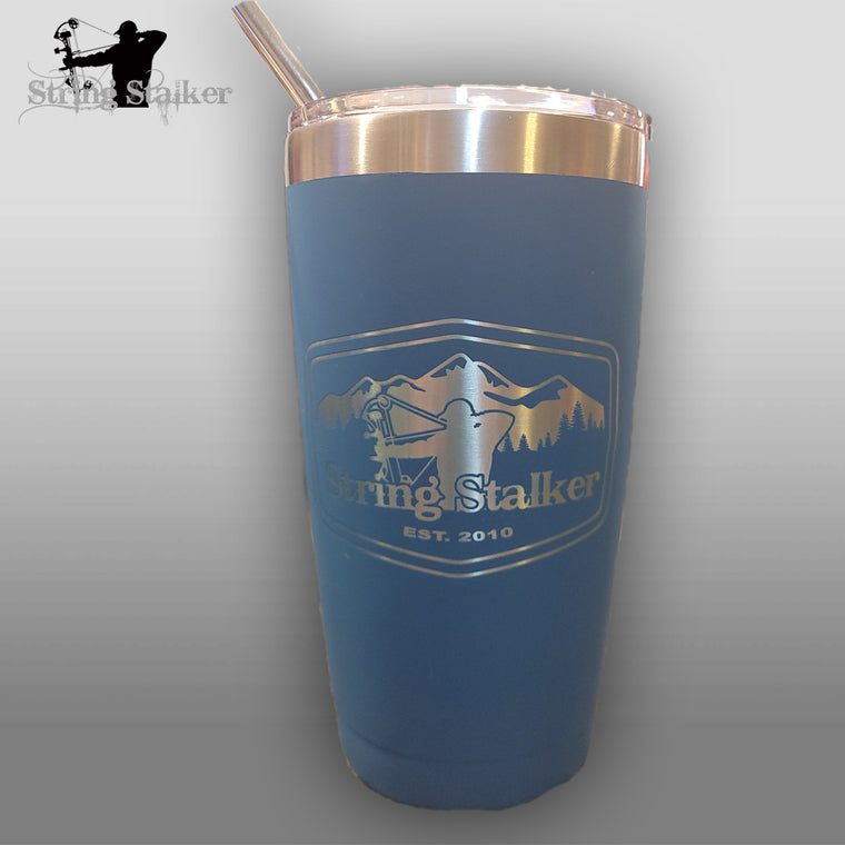 All new String Stalker Mountain Stalker Blue 20oz Tumbler