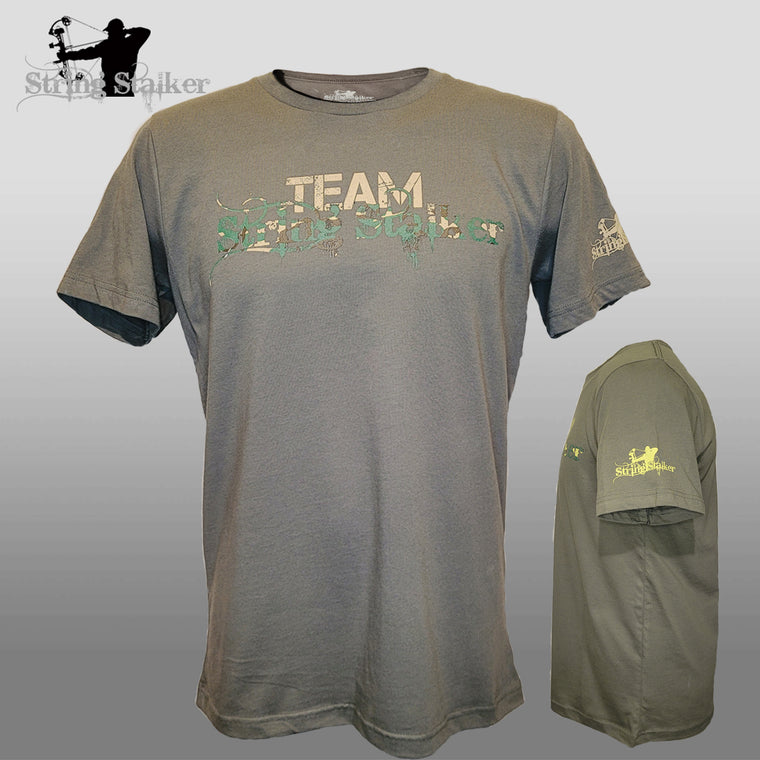NEW!! Team String Stalker Bow Hunter T- Shirt- Military Green