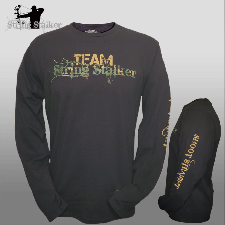 NEW!! Team String Stalker Bow Hunting Long Sleeve - Black