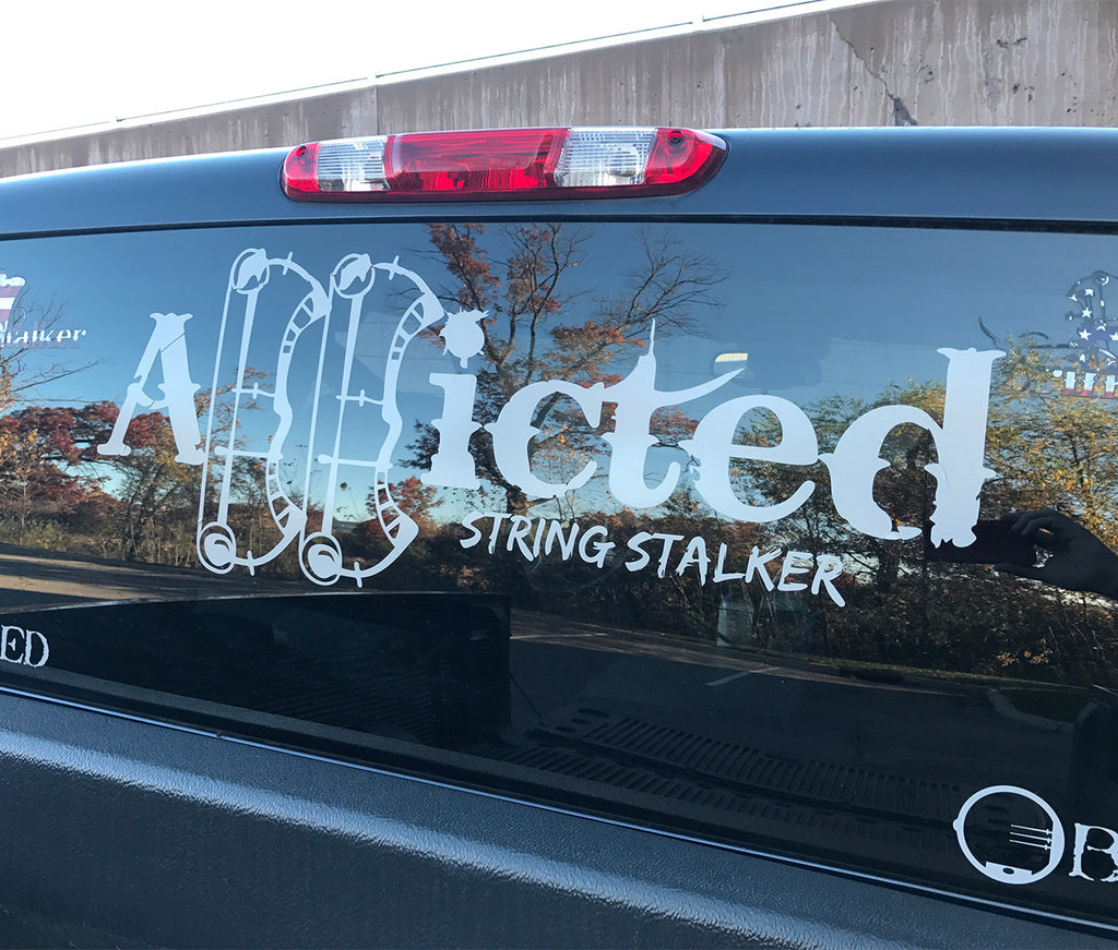 "30"" Wide Truck String Stalker Bow Hunting Addicted Decal - String Stalker"