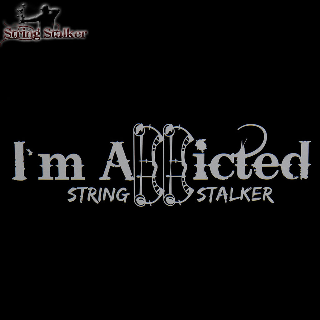String Stalker Bow Hunting Addicted Decal - String Stalker
