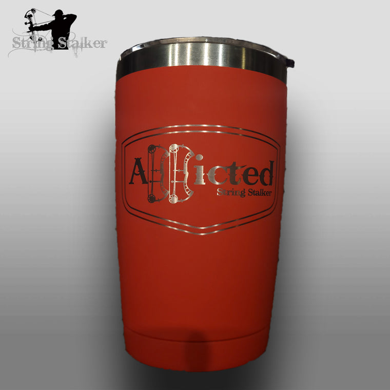 Red Addicted Bow Hunting Tumbler