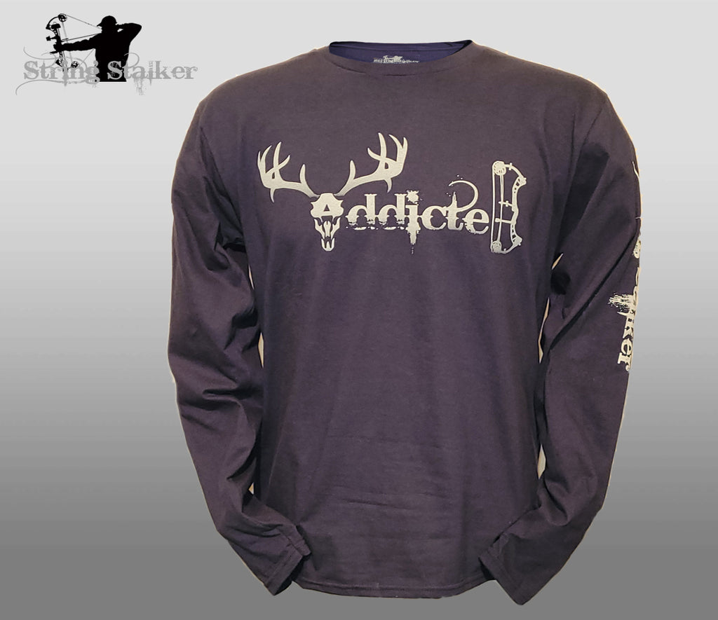 NEW!! String Stalker Addicted Bow Hunting Long Sleeve - Deep Blue