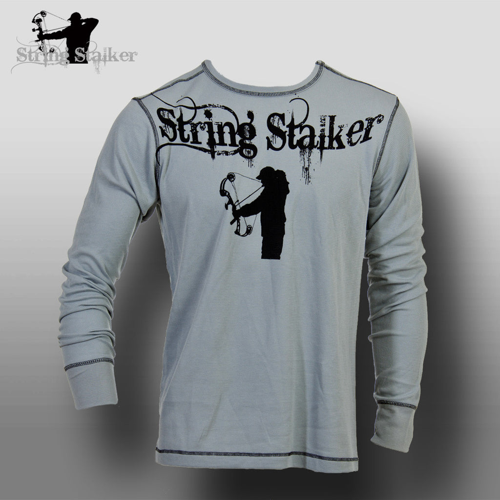 String Stalker Collar Archer Bow Hunter Lightweight Thermal Shirt - String Stalker
