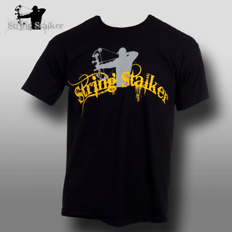 String Stalker Black & Yellow Bow Hunting T Shirt - Only $10.00 - String Stalker