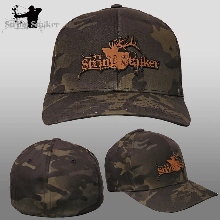 NEW String Stalker Elk Logo FITTED hat - Black camo