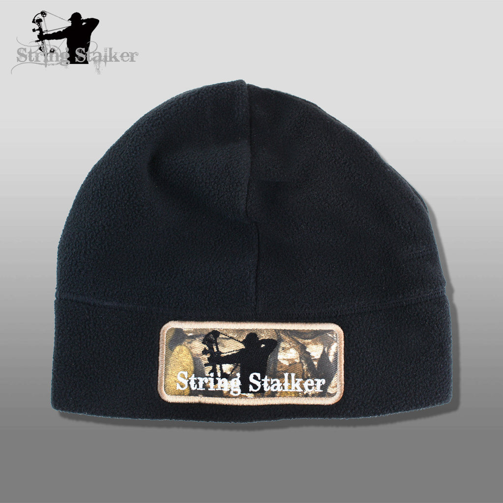 String Stalker Black Fleece Bow Hunting Beanie - String Stalker