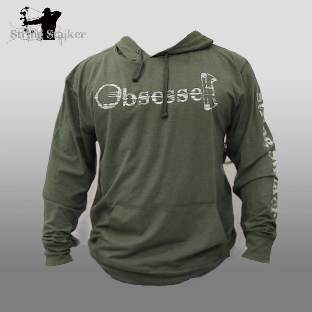 String Stalker Bow Hunting Obsessed Long Sleeve Shirt - Green
