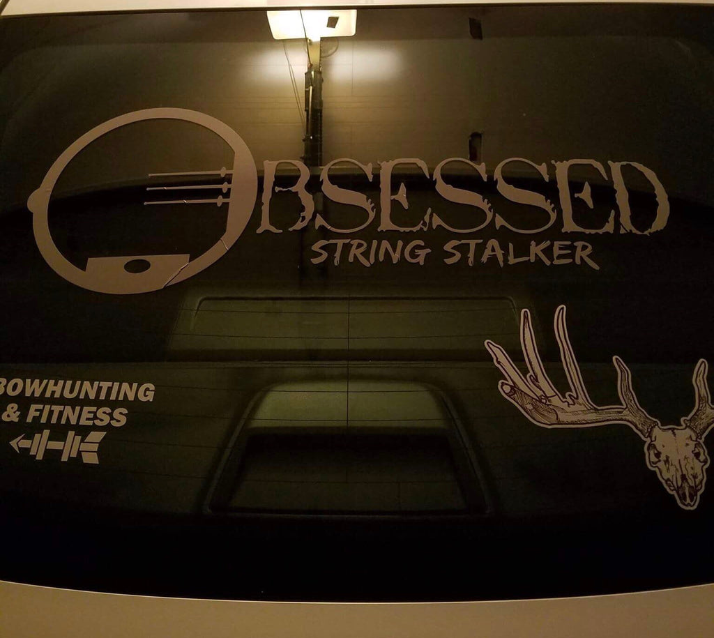 "30"" Wide Truck String Stalker Bow Hunting Obsessed Decal - String Stalker"