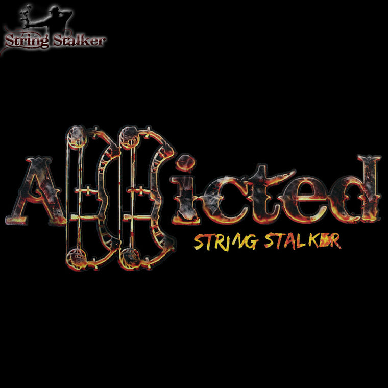 String Stalker Bow Hunting Scorched Addicted Decal - String Stalker