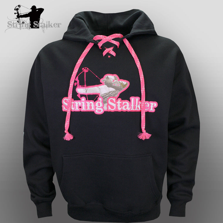 Ladies String Stalker Snow Camo Twill Laced Hoodie Sweatshirt - String Stalker