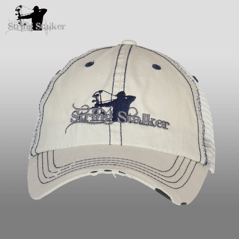 Putty With Grey String Stalker Mesh Bowhunting Lifestyle Hat - String Stalker