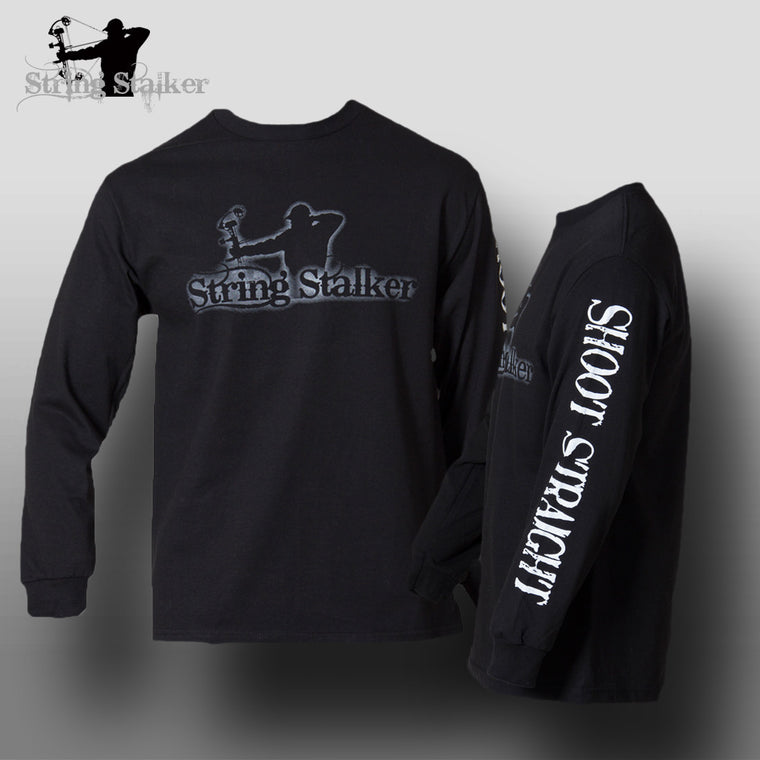 String Stalker Shoot Straight Bow Hunter Long Sleeve T Shirt - String Stalker
