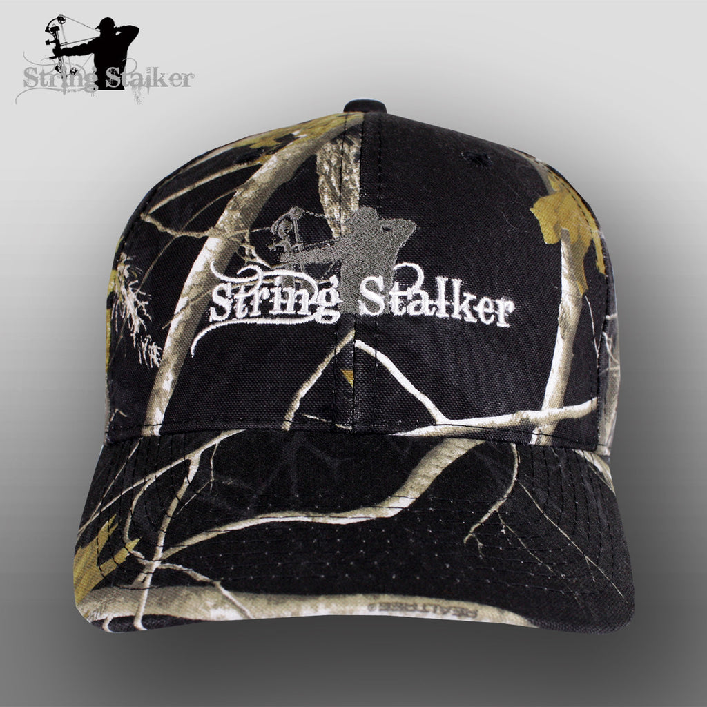 String Stalker Black Realtree Bow Hunting Hat - String Stalker