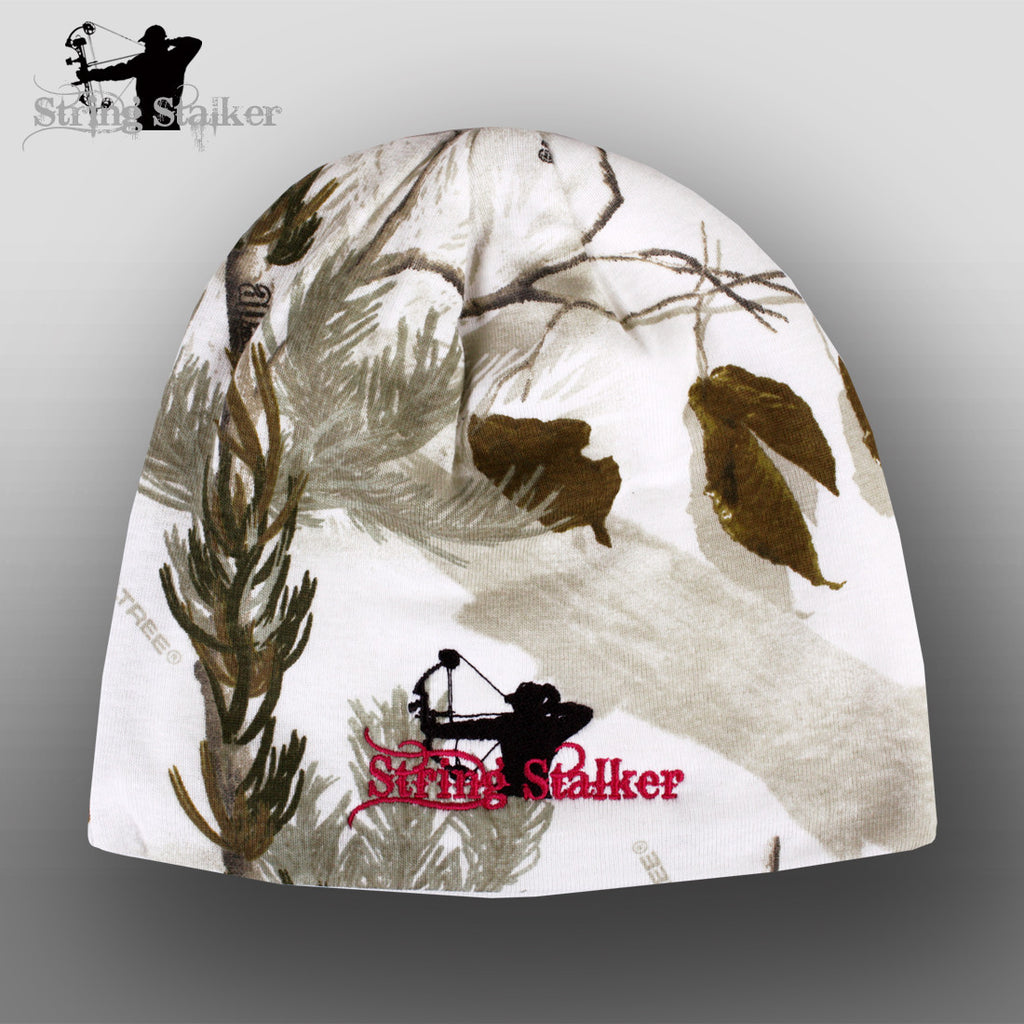 String Stalker Ladies Snow Camo Beanie - String Stalker