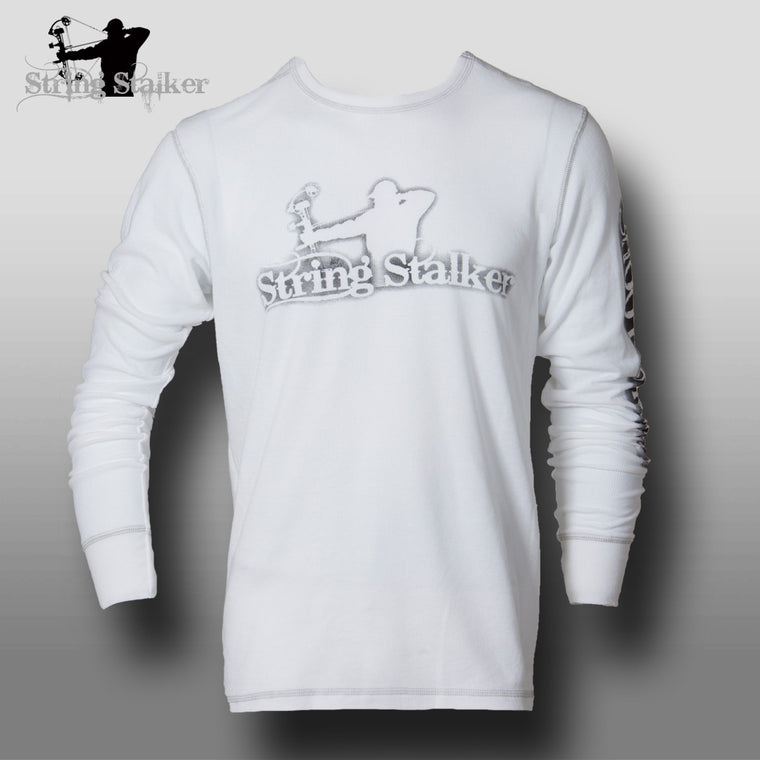String Stalker Shoot Straight Bow Hunter Thermal Shirt - Gray Stitching - String Stalker