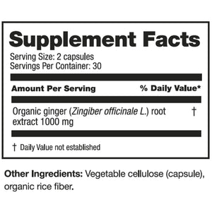 Extra Strength Ginger (60 Capsules)