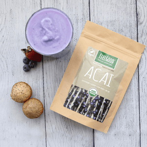 feelgood organic superfoods pure and natural certified organic acai powder