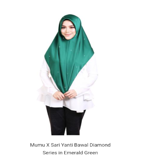 Mumu Scarves X Sari Yanti Bawal Diamond Series in Emerald Green