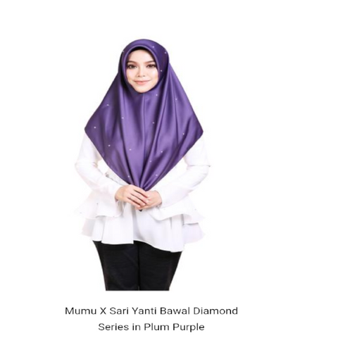 Mumu X Sari Yanti Bawal Diamond Series In Plum Purple