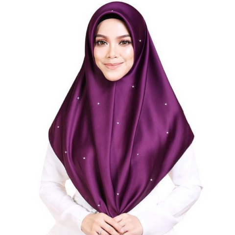 Mumu Scarves X Sariyanti Bawal Diamond Series (  Little Violet )