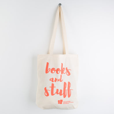 """Books and Stuff"" Tote Bag"
