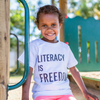 """Literacy is Freedom"" Kids and Youth Tee - Unisex"