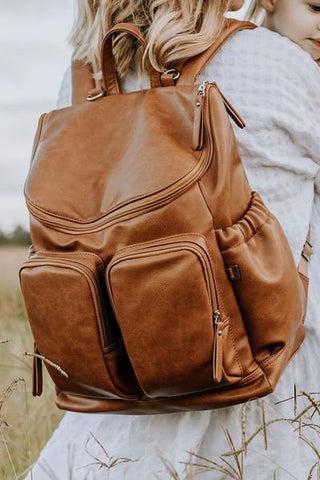 OiOi Tan Backpack Baby Bag