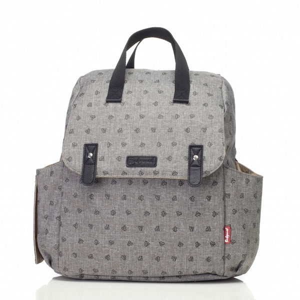 Babymel Robyn Convertible Nappy Bag - Origami Heart Grey