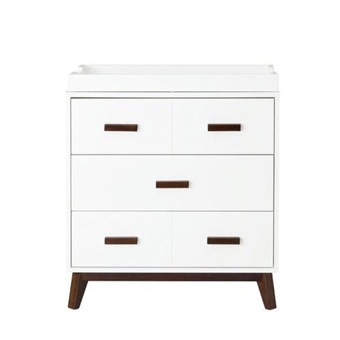 Babyletto Scoot Change Table/Dresser - White and Walnut