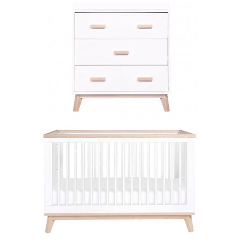 Babyletto Scoot Package - White and Washed Natural