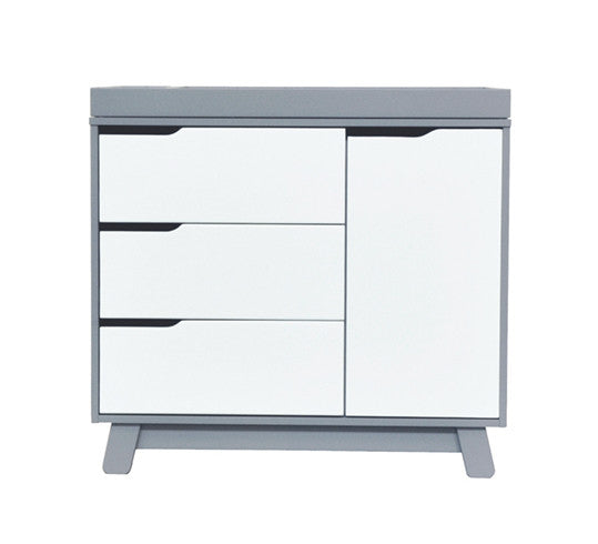 Babyletto Hudson Change Table/Dresser - Grey and White