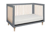 Babyletto Lolly 3 in 1 Cot - Grey and Washed Natural