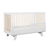Babyletto Hudson 3 in 1 Cot - White and Washed Natural