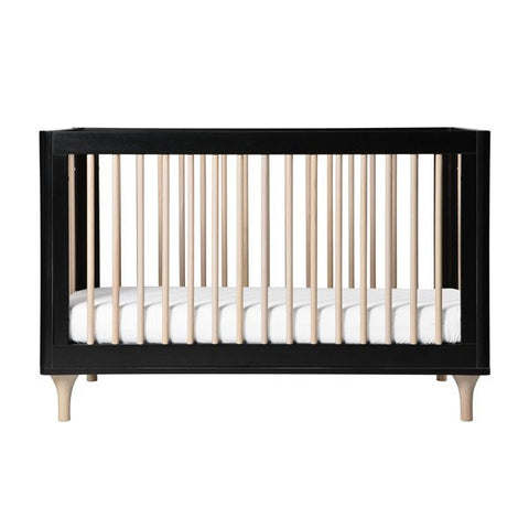 Babyletto Lolly 3 in 1 Cot - Black and Washed Natural