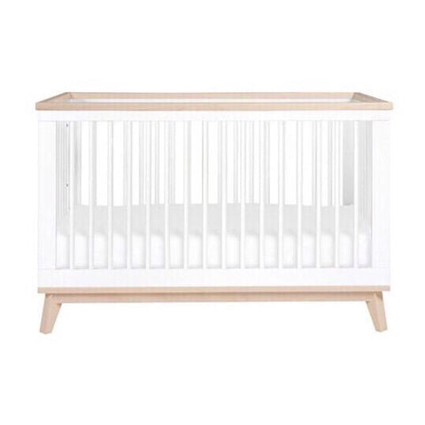 Babyletto Scoot 3 in 1 Cot - White and Washed Natural