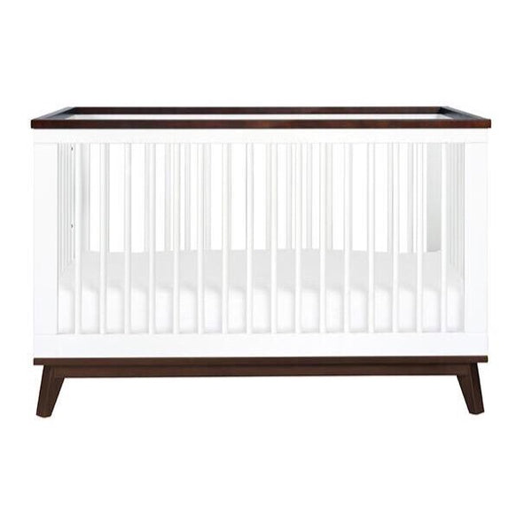 Babyletto Scoot 3 in 1 Cot - White and Walnut