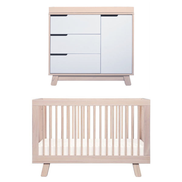 Babyletto Hudson Cot and Change Table Package - Washed Natural