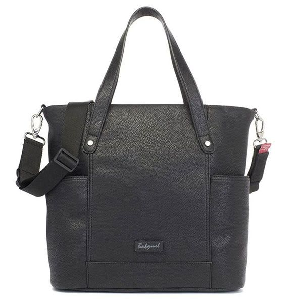 Babymel Rosie Vegan Leather Nappy Bag - Black