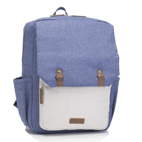 Babymel George Backpack Nappy Bag - Mid Blue
