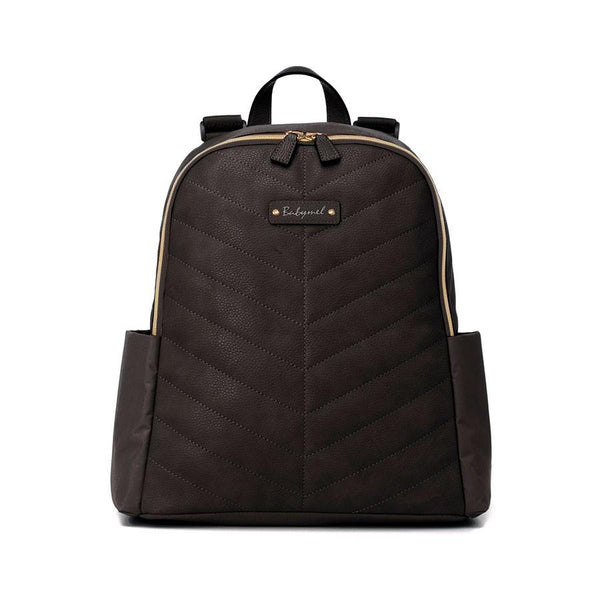 Babymel Gabby Vegan Leather Backpack Nappy Bag - Black