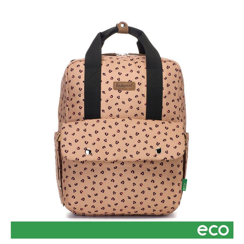 Babymel Georgi Eco Backpack Nappy Bag - Caramel Leopard