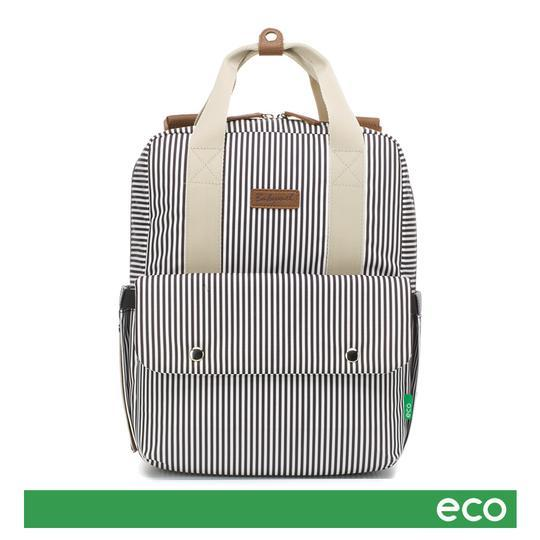 Babymel Georgi Eco Backpack Nappy Bag - Navy Stripe