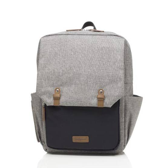 Babymel George Backpack Nappy Bag - Grey and Black