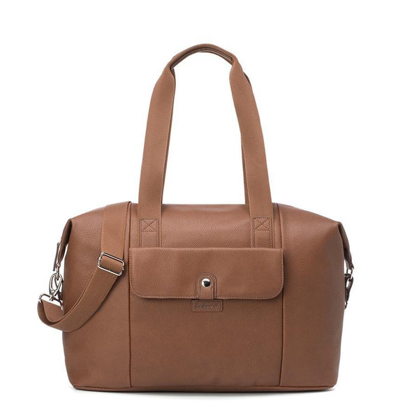 Babymel Stef Vegan Leather Hospital Bag - Tan