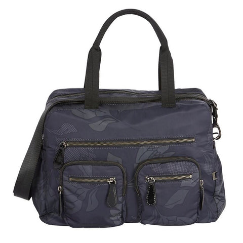 OiOi Carry All Nappy Bag - Black Protea