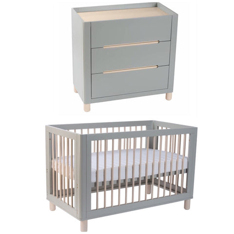 Cocoon Allure 4 in 1 Cot and Change Table Package - Dove Grey