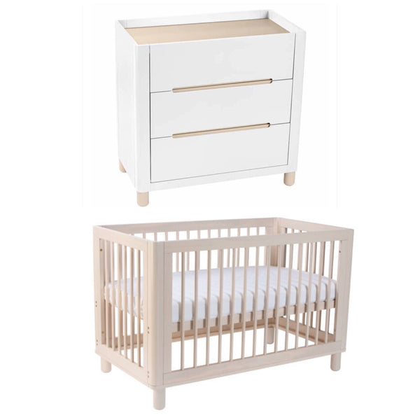 Cocoon Allure 4 in 1 Cot and Change Table Package - Natural